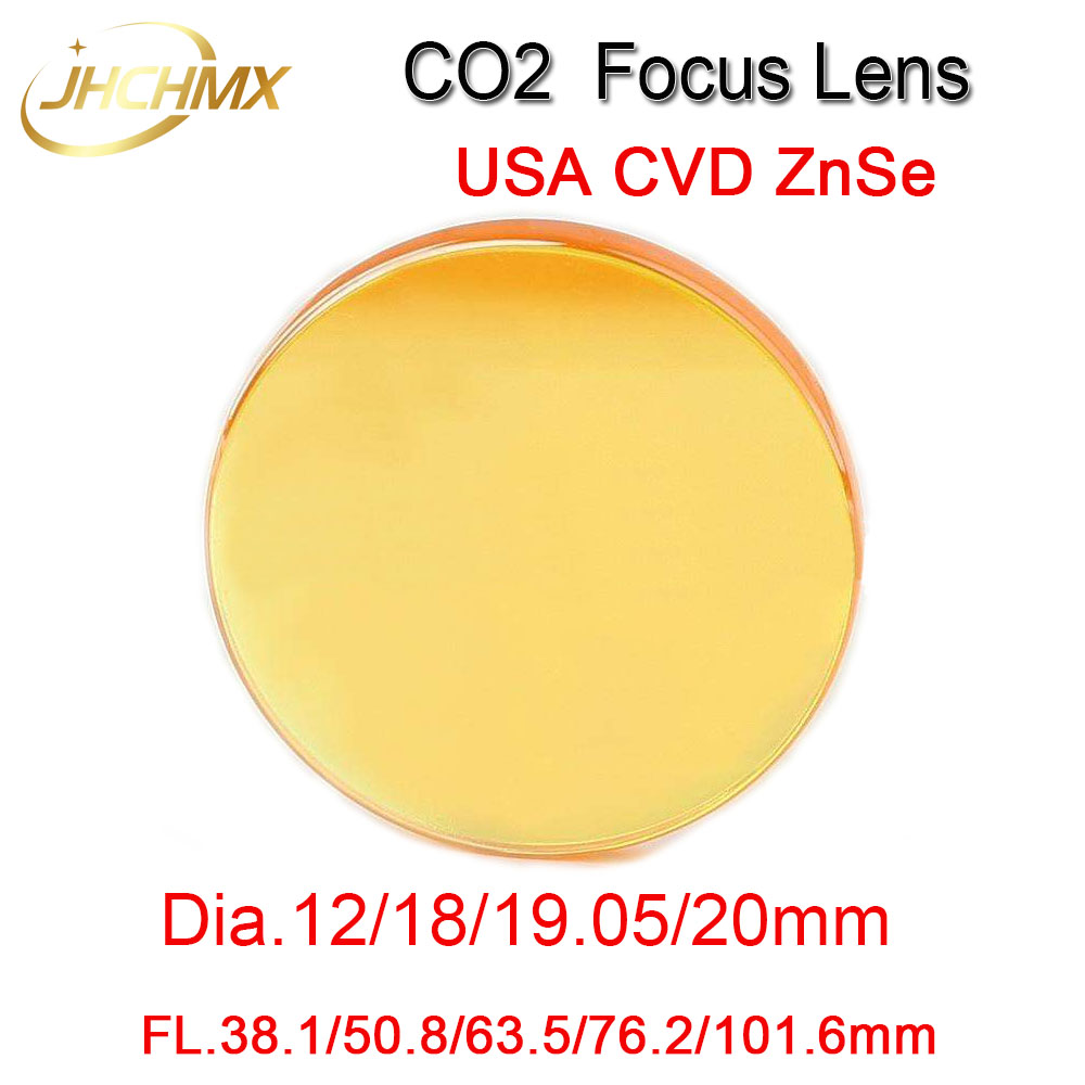 Free Shipping Co2 ZnSe Focus Lens Dia12/18/19.05/20mm FL38.1/50.8/63.5/76.2/101.6mm 1.5 - 4