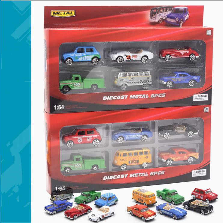 Simulation classic car toy,1:64 scale alloy bus,truck car toys,6pcs Collecting toy model,child's gift, wholesale,free shipping