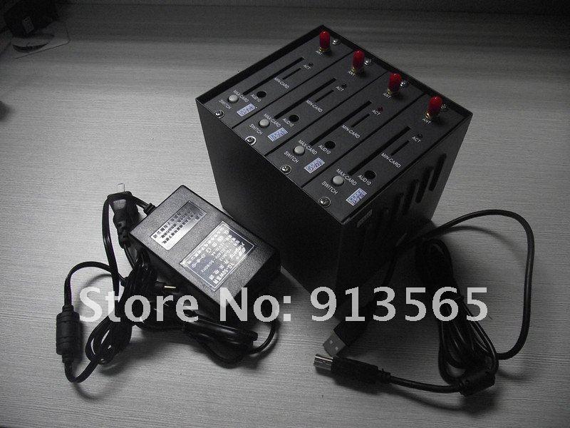 Gsm wavecom 4 port usb bulk sms modem 900/1800 mhz
