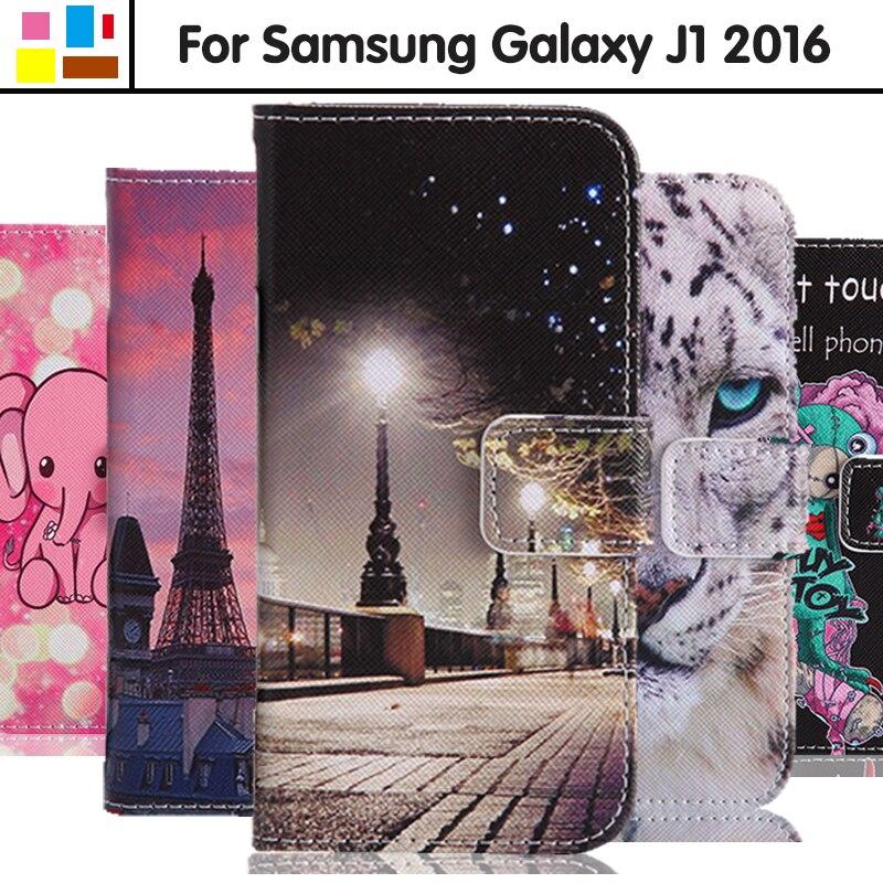 EiiMoo Case For Samsung Galaxy J1 2016 J120 J120F J120H SM-J120 SM-J120F Bag Leather Flip Cover For Samsung J1 2016 Phone Case 6