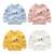 Camiseta de los muchachos ropa de bebé Niños ocio tops primavera y otoño