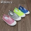 2017 crianças running shoes doce cor de verão do bebê das meninas dos meninos malha respirável sports shoes outdoor ultra-macio crianças casuais shoes