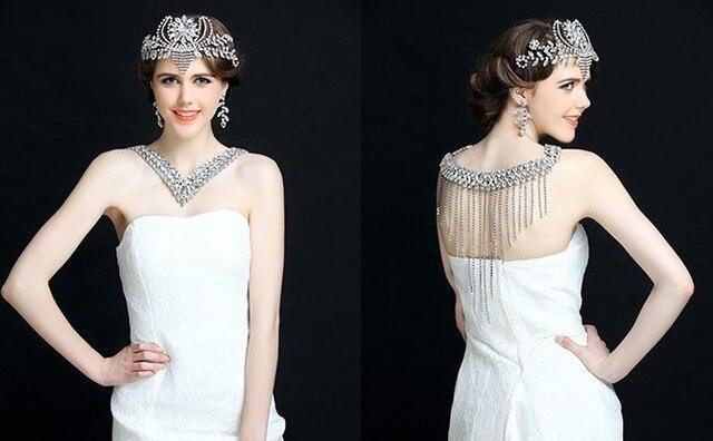 Buy new arrived bridal shoulder necklace for Necklace for v neck wedding dress