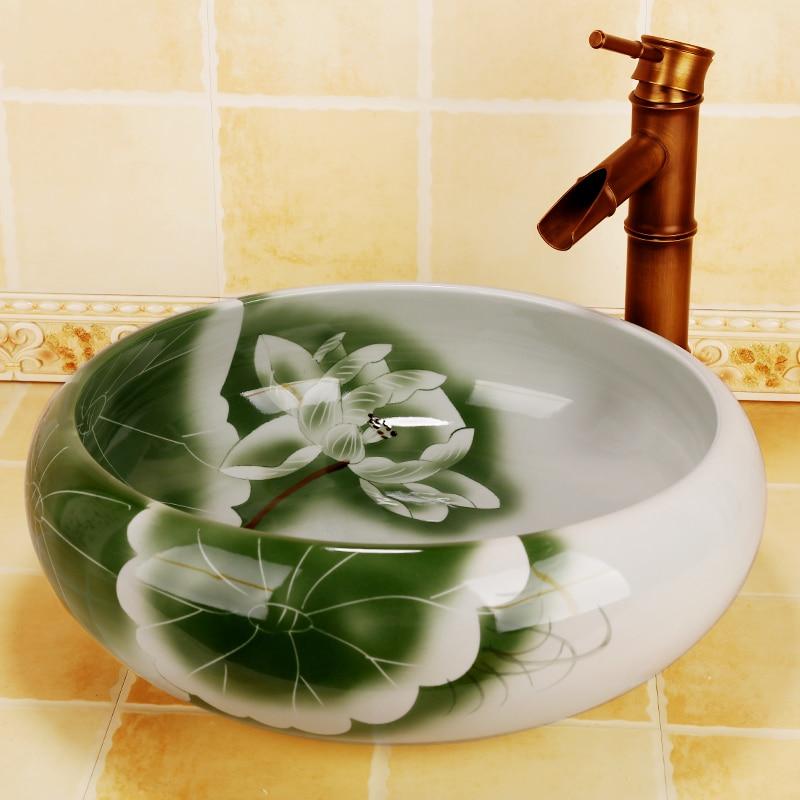 Ceramic Bathroom Sink Wash Basin