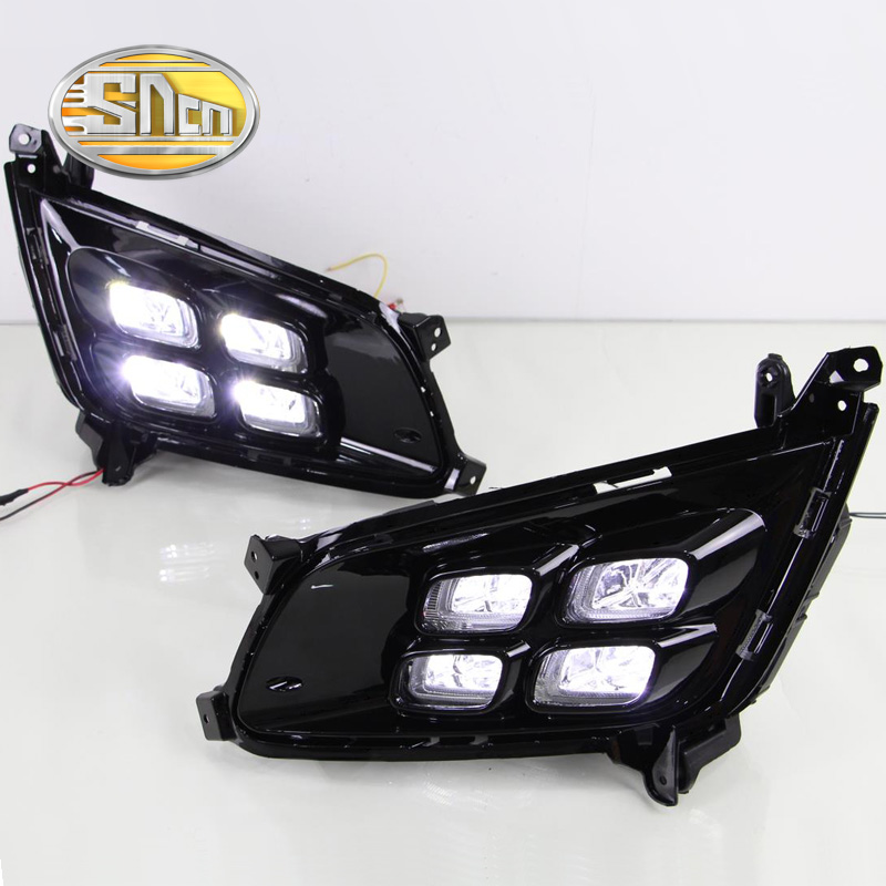 For Kia Optima K5 2013 2014 2015,With Turning Signal Function Waterproof Car DRL 12V LED Daytime Running Light Daylight SNCN laser head optima 5 opt 5