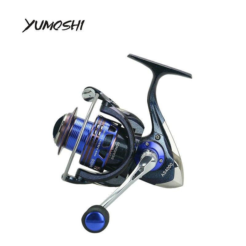 YUMOSHI 2017 NEW 13 1 BB Color paint spinning fishing reel EVA handle Super smooth sea