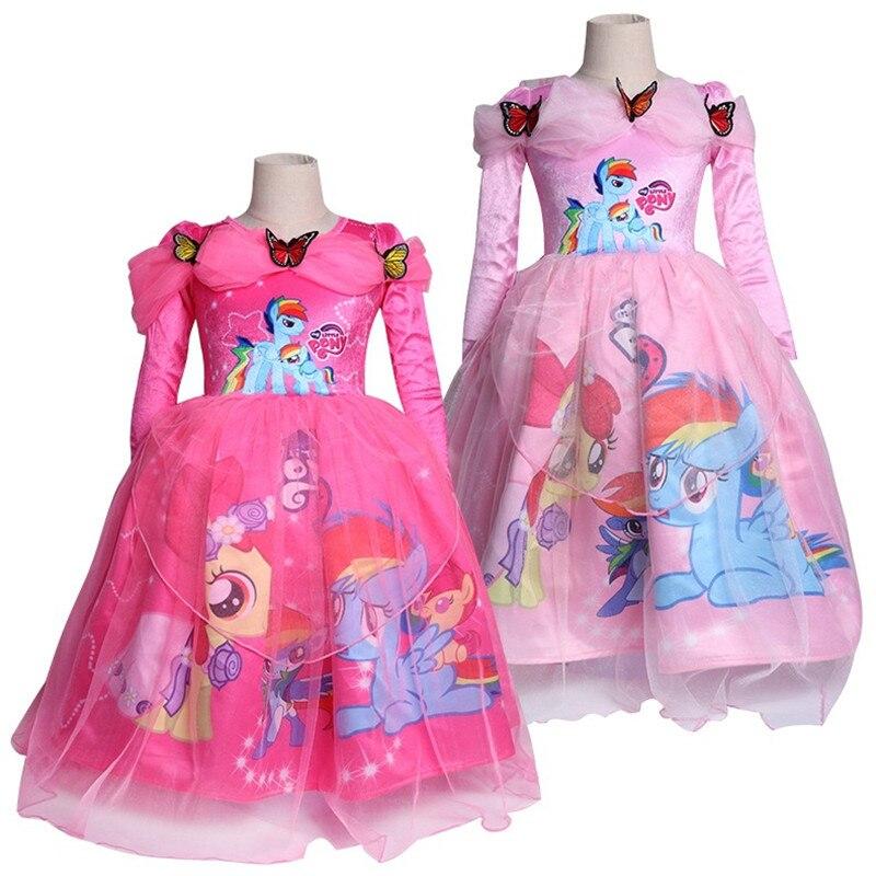 купить My Girls Tutu Clothes Carnival moana Dresses unicornio Kids Bow Princess Dress Baby Girls Wedding unicorn Party Costume Children по цене 1631.9 рублей