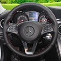 Volante Cobre Caso para o Benz B200 B/C classe 2015 modelos Mercedes-benz C200 C300 Sport Car estilo Capa de Couro Genuíno