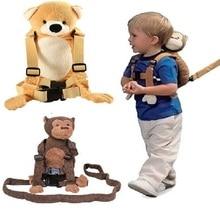 Детский рюкзак с ремнем безопасности для прогулок, рюкзак с защитой от потери, сумка для поводка на ремне, сумка с рисунком летучей мыши