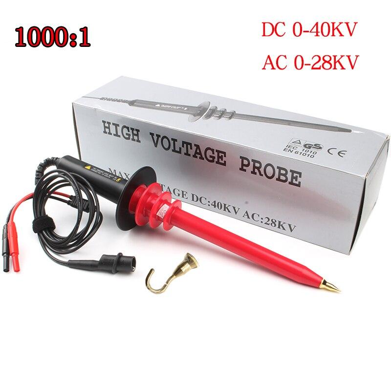 High Voltage HVP40 probe 40KV DC 28KV AC 1000Mohm 1000:1 4 DMM