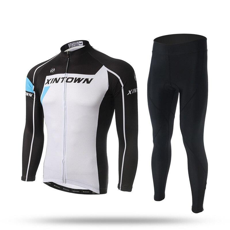 XINTOWN Cycling Bicycle Jersey Set Spring Autumn Professional Riding Sportswear Men Women Long Sleeve Pants Cycling Clothings