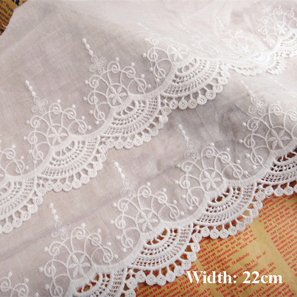 Arts,crafts & Sewing ss-4911 Romantic 1yrd/lot Width:22cm Vintage Ivory Color Cloth Lace For Garment Cotton Embroidered Lace Trims Fabric Lace