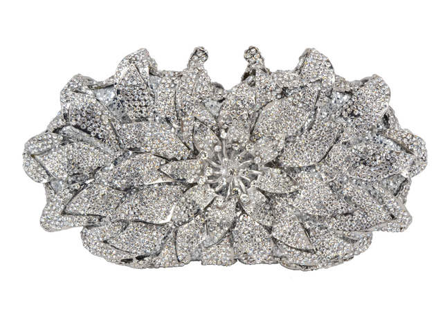 Red Gold Silver Yellow Luxury Diamond Clutch Bag Wedding Bride Crystal  Encrusted Bags Sparkly Diamante Banquet b6879664138a