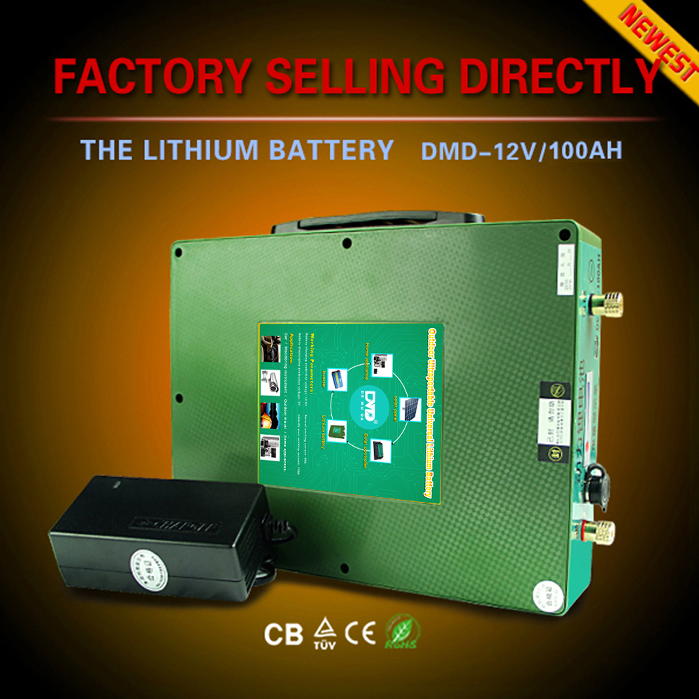 Lithium rv battery 12v 100ah lithium car battery for Recreational Vehicle hot sell new concept free shipping
