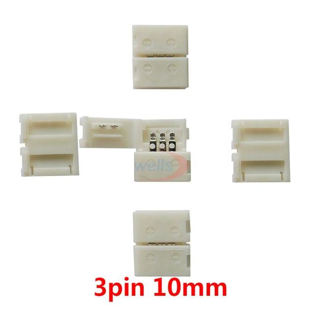 5 ~ 1000 sztuk 2pin 3pin 4pin 5pin 6pin złącze led klip, dla 5050 3528 3014 WS2812b LED pojedynczy kolor/RGB RGBW RGBWW taśmy światła