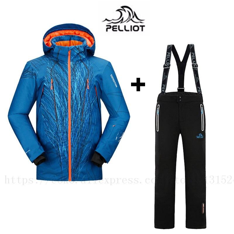2018 LIVRAISON GRATUITE Garantie Authentique! Pelliot Mâle Ski Costumes Veste + Pantalon Hommes de Preuve de L'eau, thermique Cottom Rembourré Snowboard