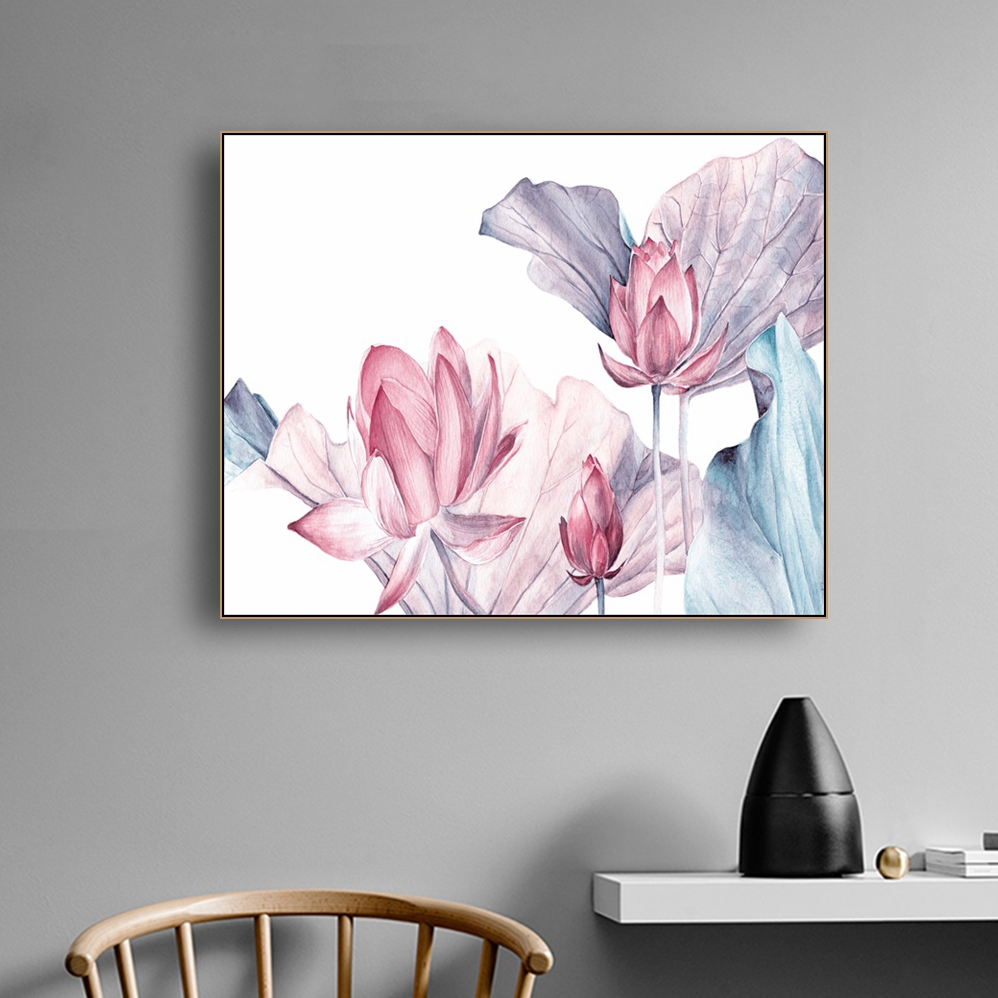 Chinese Style Lotus Decor Wall Art Canvas Poster and Print Canvas Painting Decorative Picture for Living Room Bedroom Home Decor in Painting Calligraphy from Home Garden