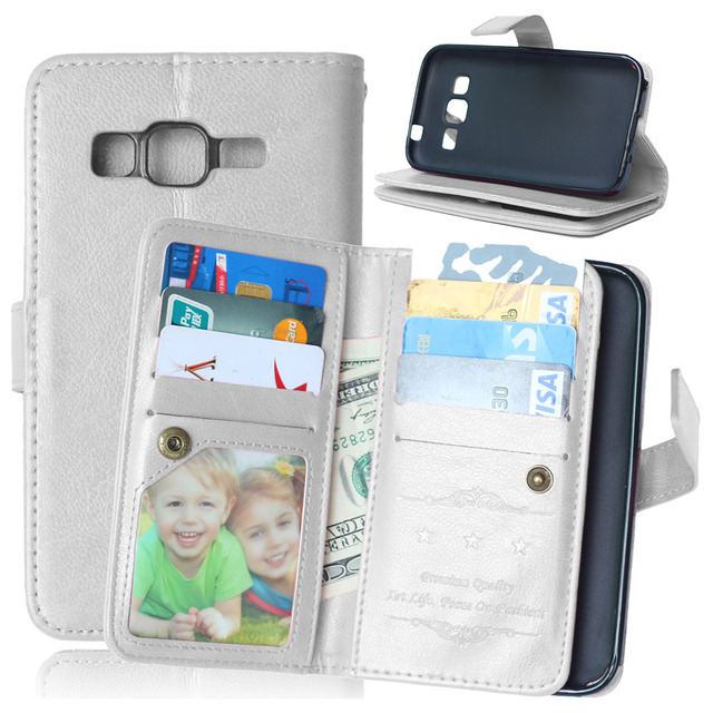 9 Card Holders Wallet Leather Cover for Samsung Galaxy Core Prime G360F G361F SM-G360H SM-G361H SM-G360P Case Flip Phone Cases