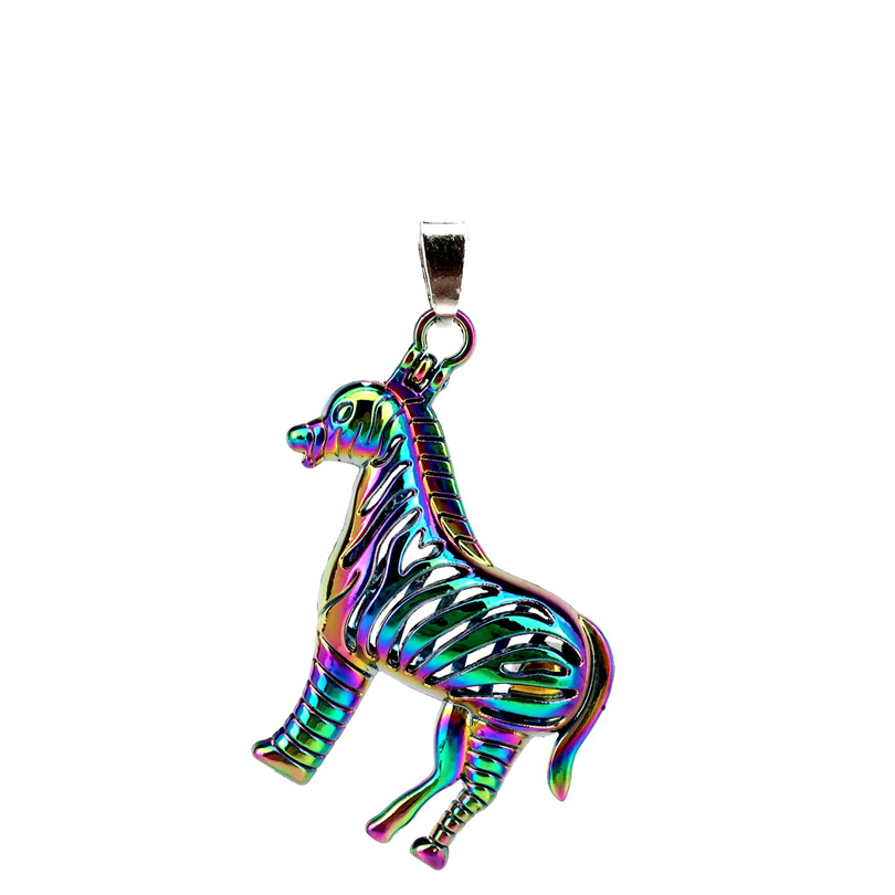 Pendants Necklaces & Pendants Spirited C116 5pcs/lot Rainbow Color Magnetic Zebra Pearl Beads Cage Locket Pendant Pearl Locket Fairytale Party Possessing Chinese Flavors