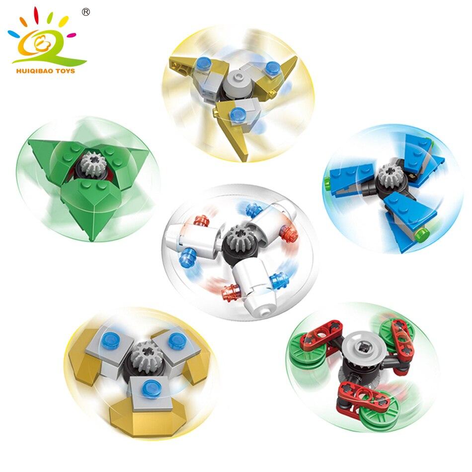 6 stílus Fidget Spinner építhető Spiner építőelemek kompatibilisek a legoed City Classic DIY tégla játékok Gyerekek gyerekeknek ajándék