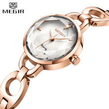 MEGIR Fashion Luxury Women Watches Rose Gold Quartz Wrist Watch Top Brand Ladies Casual Waterproof Gift For Wife