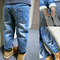 Children with winter warm trousers trousers jeans cashmere fleece casual all-match thickened boy pants