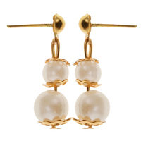 1 Bag /500g Fashion Dolls Plastic Pearl Earrings Ear Studs Jewellery For Doll Clothes Hair Accessories Fits 18 30cm Girl Dolls