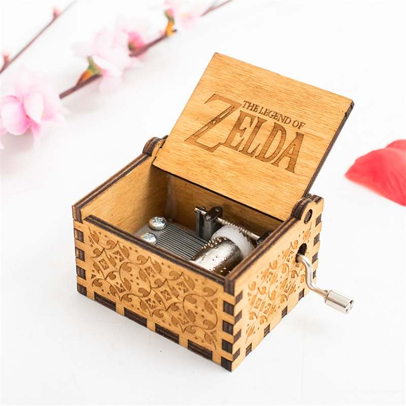 Game The Legend of Zelda Theme Handmade Engraved Wooden Music Box Crafts Cosplay 1