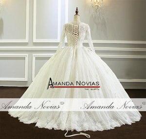 Image 2 - Amanda Novias vestido de noiva Long Sleeve Lace Wedding Dress New