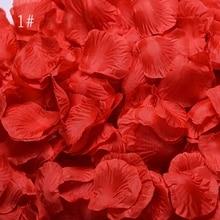 Романтические лепестки роз 1000 шт/партия свадебные аксессуары украшения для вечеринки Цветы полиэстер искусственные розы цветы SR01