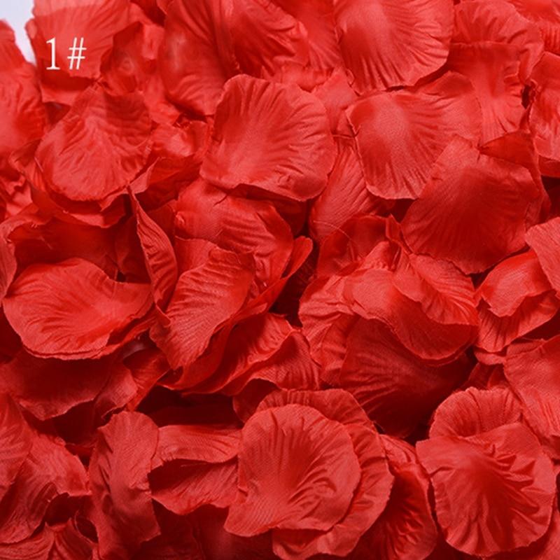 Romantic Rose Petals 1000pcs/lot Wedding Accessories Event Party Decorations Flowers Polyester Artificia Rose Flowers SR01