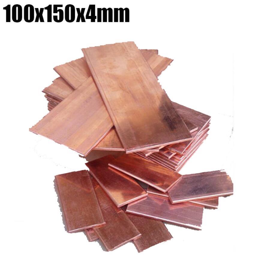 100x150x4mm DIY material red Copper bar plate Thin Plate Manual material DIY Knife repair Computer tools PCB brass block sheet набор для шитья askar manual xllh131109 diy diy