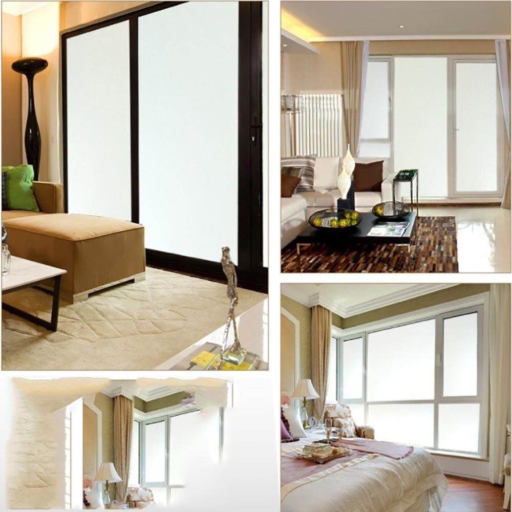 HOHOFILM 1.22x1 m gel blanc mat fenêtre Film feuille décorative fenêtre teinte intimité chambre intimité verre autocollant