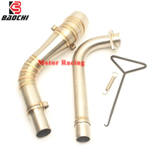 Motorcycle Exhaust Adapter Pipe Ship on Middle Tube Connect Link Pipe Escape Muffler for Yamaha Nmax 155 Nmax125 2015 2016 2017 все цены