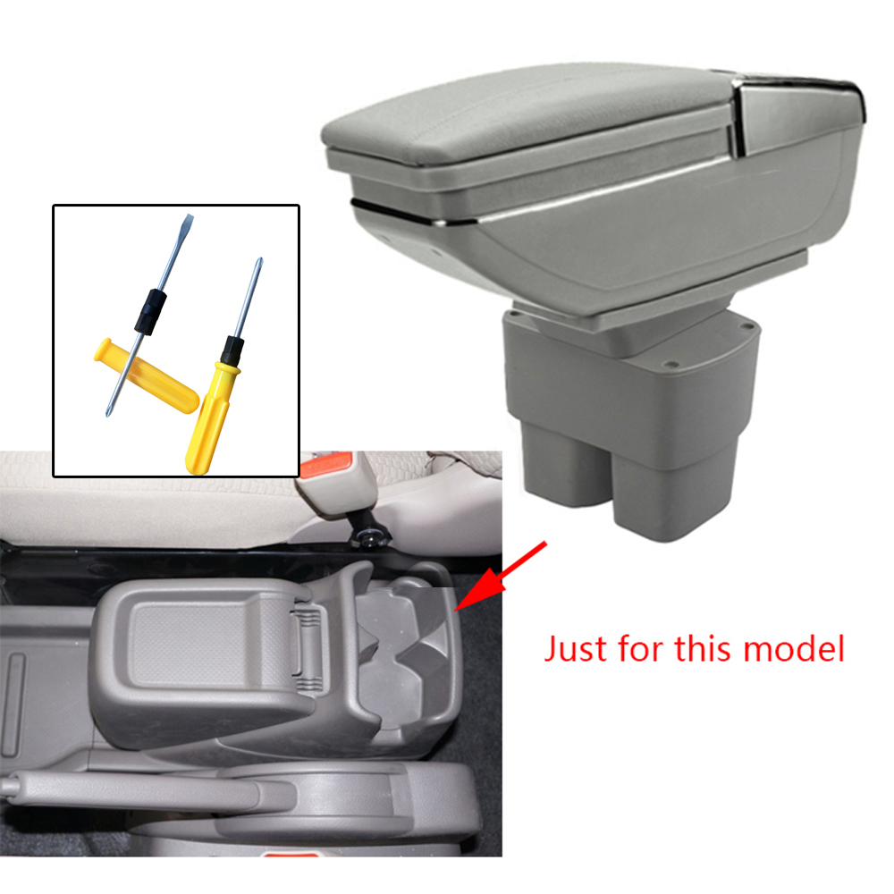 Car Styling For Nissan NV200 2010 2011 2012 2013 2014 2015 2016 2017 Armrest Box Central Console Arm Rest Box Cup Holder Ashtray