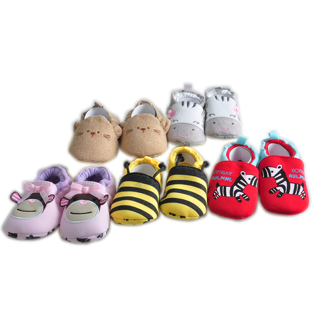 5pairs/lot Newborn Winter Baby First Walkers Toddler Cotton Cartoon Shoes Infant Warm Baby Cute 0-18M Boy Anti-Slip Winter Shoes infant toddler baby boy girl kid soft sole shoes laces up sneaker newborn 0 18m first walkers baby shoes