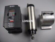 CNC spindle kit ER11 800w water cooling spindle motor + spindle support +1.5KW inverter