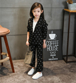 2017 New Spring Autumn Children Girls/Boys Clothing Sets Dot Clothes Tops +Feet Pants Baby Kids 2 pcs Suit Q1