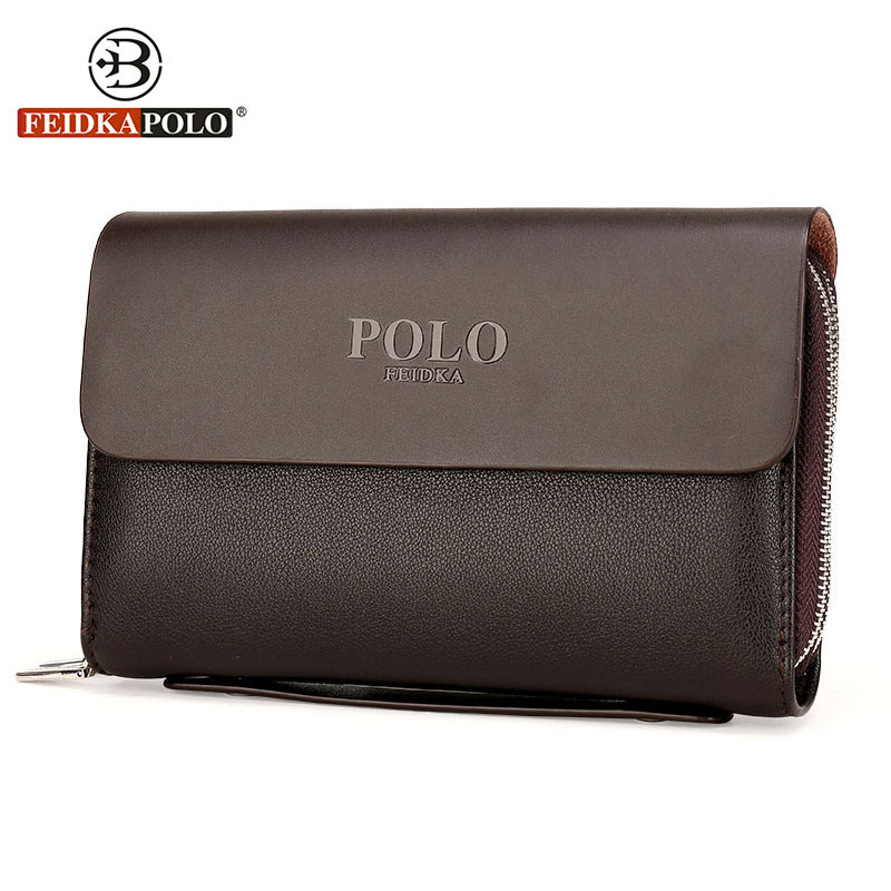 Famous Brand Men Brown Wallets Monederos Leather Purse Men's Standard Wallet Carteiras Billeteras Mujer Clutch Man Handy Bags 2016 famous brand new men business brown black clutch wallets bags male real leather high capacity long wallet purses handy bags