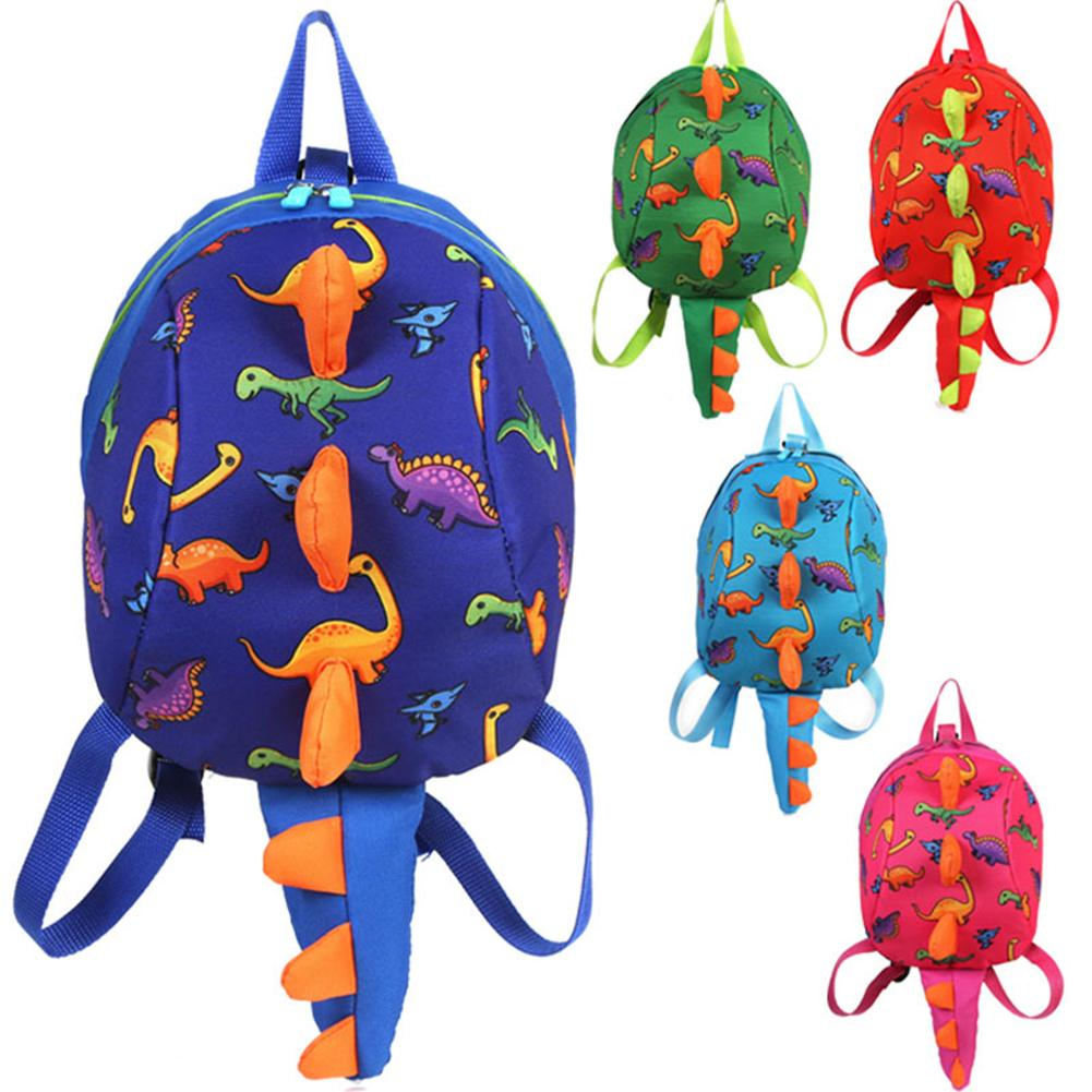 Cute Girls Bag Dinosaur Children Anti-lost Link Backpack Kindergarten School Bag With Leash Kid Schoolbag Walking Strap Leashes
