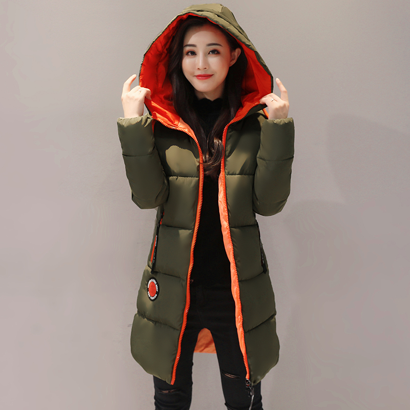 QXWITHQP Winter Coat Women Long Slim Female Outerwear New Fashion ...