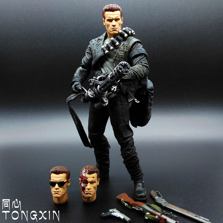 Terminator Toy Future Warrior 2 T800 T1000 T2 Arnold Movable Dolls Do Model T58