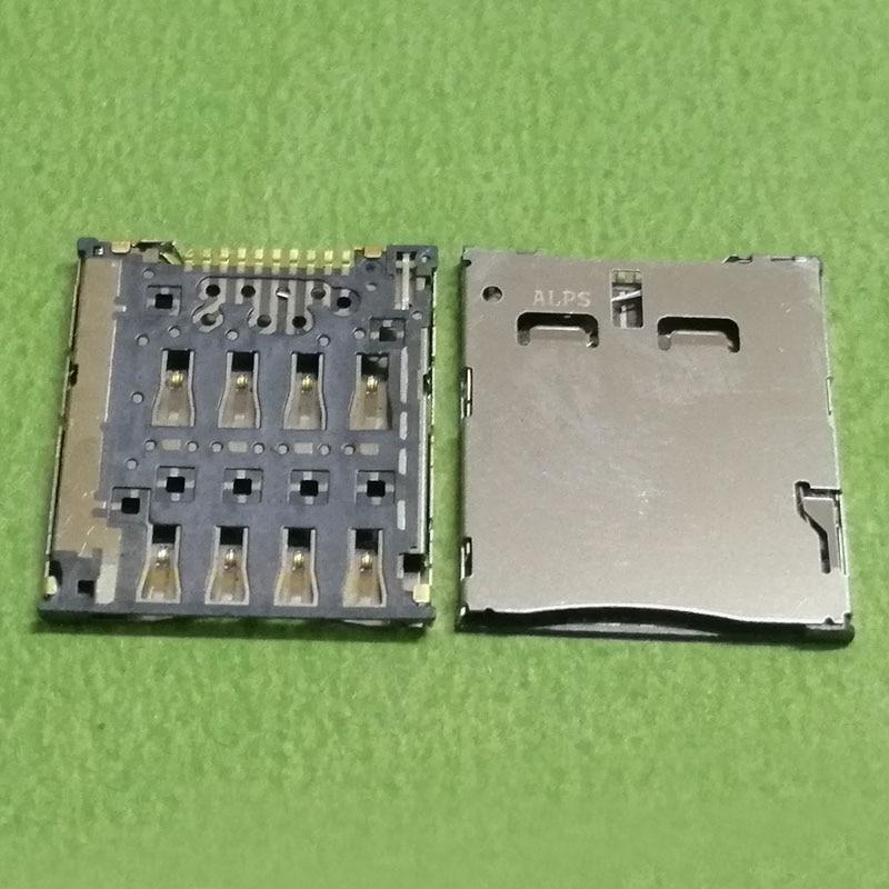 2pcs sim card reader slot tray module holder connector for LG F100 F100L/S P895 VS95 for ASUS K004 K012 T00F T00E T00G socket