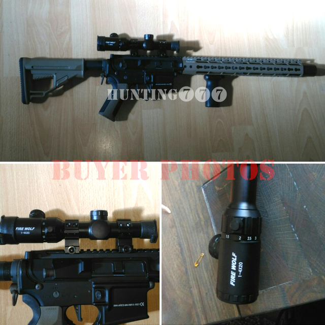 1-4x20 Rifle scope Green Red Illuminated Riflescope Range Finder Reticle Caza Rifle scope Air Rifle optical Sight Hunting 3
