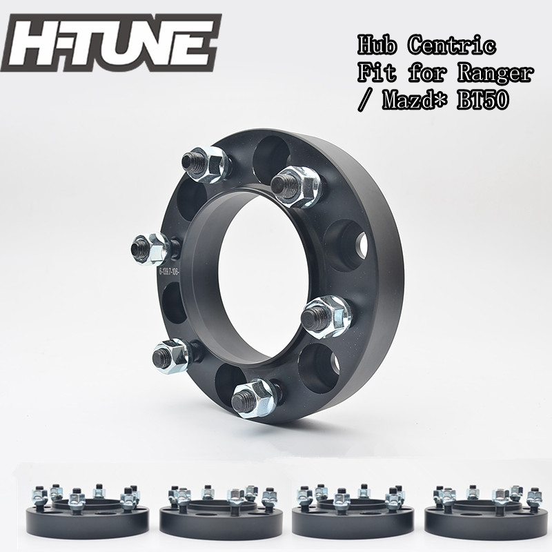 H-TUNE 4pcs Forged Aluminum Hub Centric 6x5.5 93.1CB 30mm Wheel Spacers Adapters for Ranger/BT50 4pcs billet 4 lug 14 1 5 studs wheel spacers adapters for kia cerato