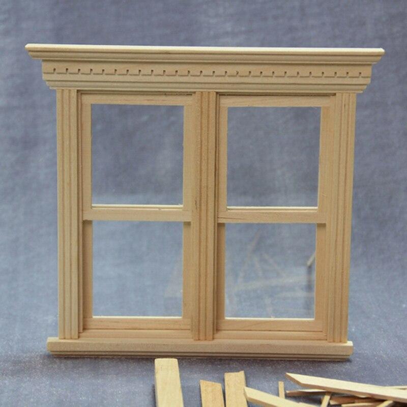Scala 1 12 miniature dollhouse finestra in legno fai da te - Finestra fai da te ...