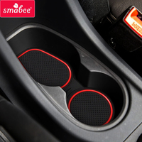 smabee Gate slot padFor CHEVROLET TRAILBLAZER 2013-2016  Interior Door Pad/Cup Non-slip mats red/white/black 20PCS