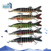 Купить с кэшбэком 1pcs Fishing Lures Swimbait Crankbait 12.5cm 21g 3 Colors 8 segemants  Fishing Wobbler Isca Artificial Lures Fishing Tackle