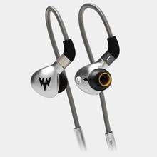 2017 Nowy Whizzer A15 W Ucho Słuchawki Słuchawki Słuchawki HIFI Słuchawki Metalu Tri-Wyrównanie częstotliwości Z Interfejsem MMCX