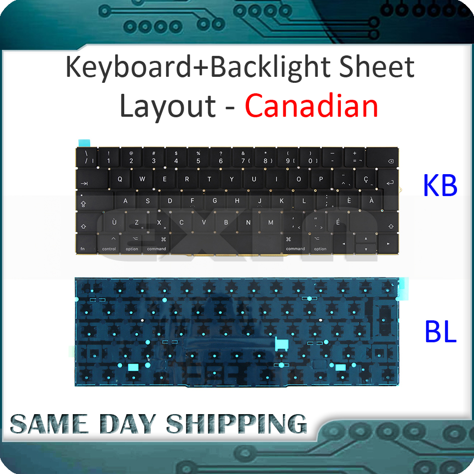 New for MacBook Pro 13.3 Retina A1706 Canadian Canada Keyboard w/ Backlight Backlit 2016 2017 MLH12 MPXV2 EMC3071 EMC3163 new for macbook pro 13 3 retina a1706 denish danish keyboard dk danish eu euro w backlight backlit 2016 2017 year